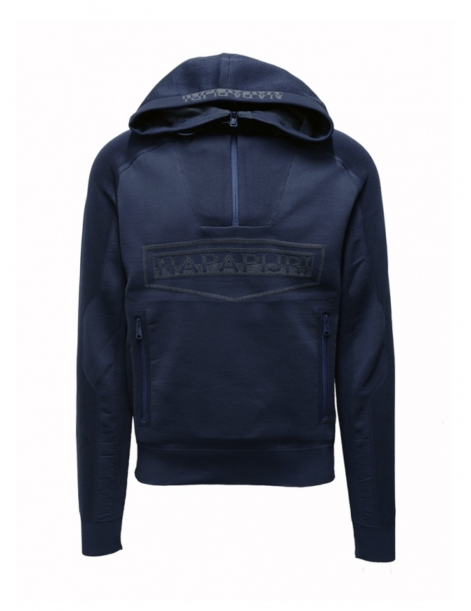 Ze-Knit by Napapijri Rainforest Ze-K128 blue sweatshirt N0YIOP176 ZE-K128 BLUE mens knitwear online shopping