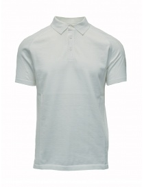 Mens t shirts online: Ze-Knit by Napapijri white polo shirt Ze-K123