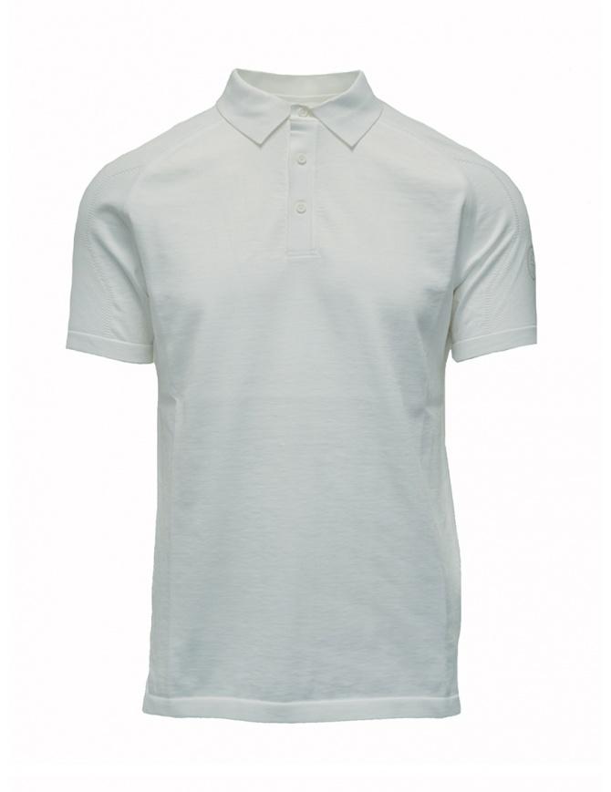Maglietta polo Ze-K123 bianca Ze-Knit by Napapijri N0YIOS002 ZE-K123 WHITE t shirt uomo online shopping