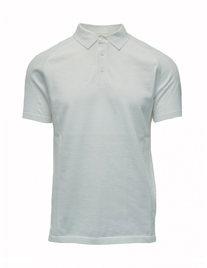 Ze-Knit by Napapijri white polo shirt Ze-K123 N0YIOS002 ZE-K123 WHITE mens t shirts online shopping