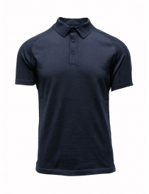 Mens t shirts online: Ze-Knit by Napapijri blue polo shirt Ze-K123
