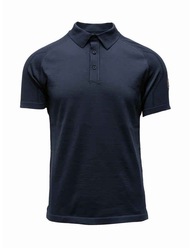 Ze-Knit by Napapijri blue polo shirt Ze-K123 N0YIOS176 ZE-K123 BLUE mens t shirts online shopping