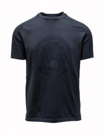 T-shirt Ze-K124 blu da uomo Ze-Knit by Napapijri N0YIOV176 ZE-K124 BLUE
