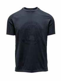 Mens t shirts online: Ze-Knit by Napapijri male blue T-shirt Ze-K124