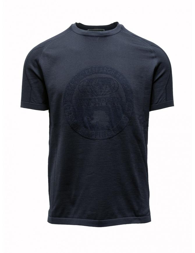 T-shirt Ze-K124 blu da uomo Ze-Knit by Napapijri N0YIOV176 ZE-K124 BLUE t shirt uomo online shopping