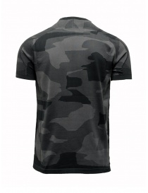 Ze-Knit by Napapijri black and grey camouflage T-shirt Ze-K124