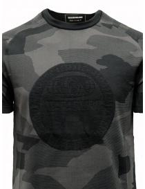 Ze-Knit by Napapijri black and grey camouflage T-shirt Ze-K124 price