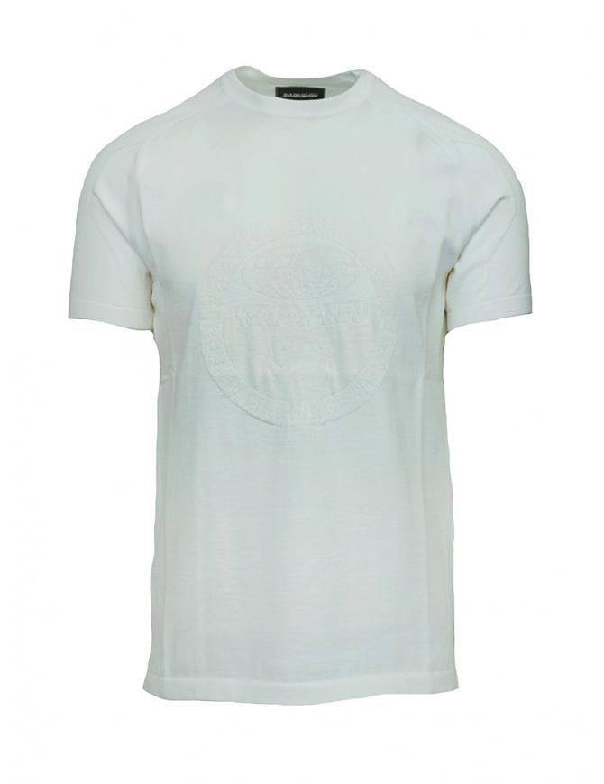 T-shirt Ze-K124 bianca Ze-Knit by Napapijri N0YIOV002 ZE-K124 WHITE t shirt uomo online shopping