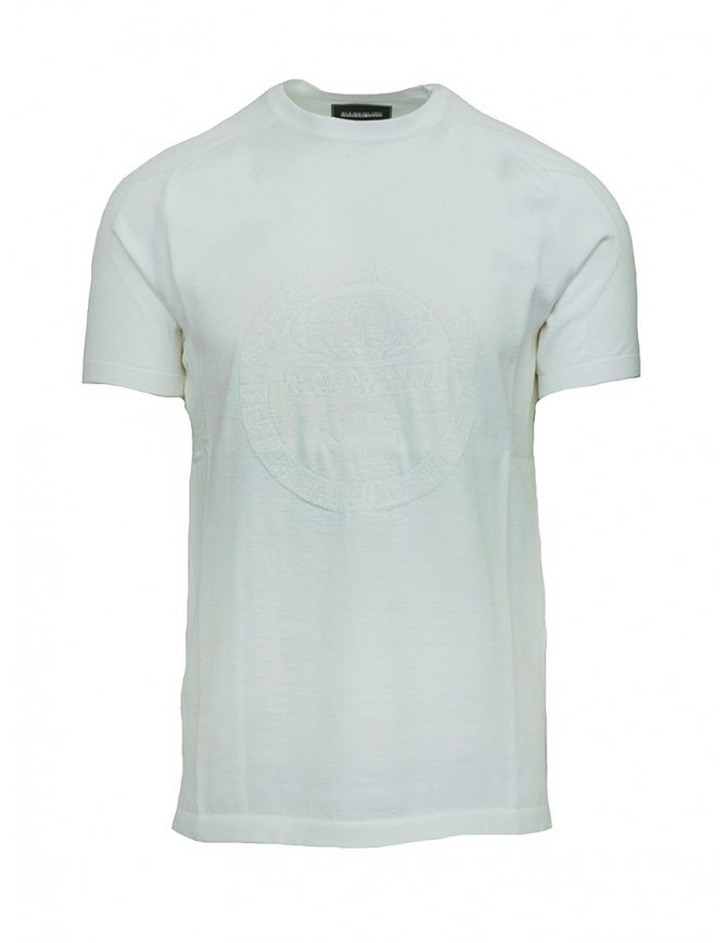 Ze-Knit by Napapijri white T-shirt Ze-K124 N0YIOV002 ZE-K124 WHITE mens t shirts online shopping