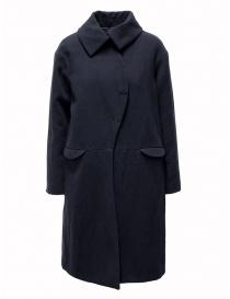 Cappotti donna online: Cappotto Sara Lanzi blu a onda
