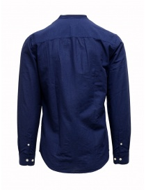 Selected Homme dark blue Korean collar shirt