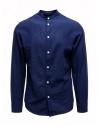 Camicia Selected Homme collo coreana blu scura acquista online 16067894 DARK BLUE