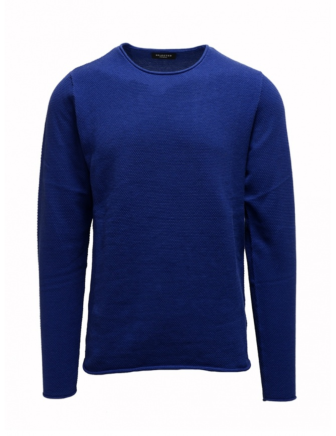 Maglione Selected Homme blu elettrico LIMOGES 16062814 SLHROCKY maglieria uomo online shopping