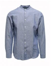 Mens shirts online: Selected Homme light blue corean collar shirt