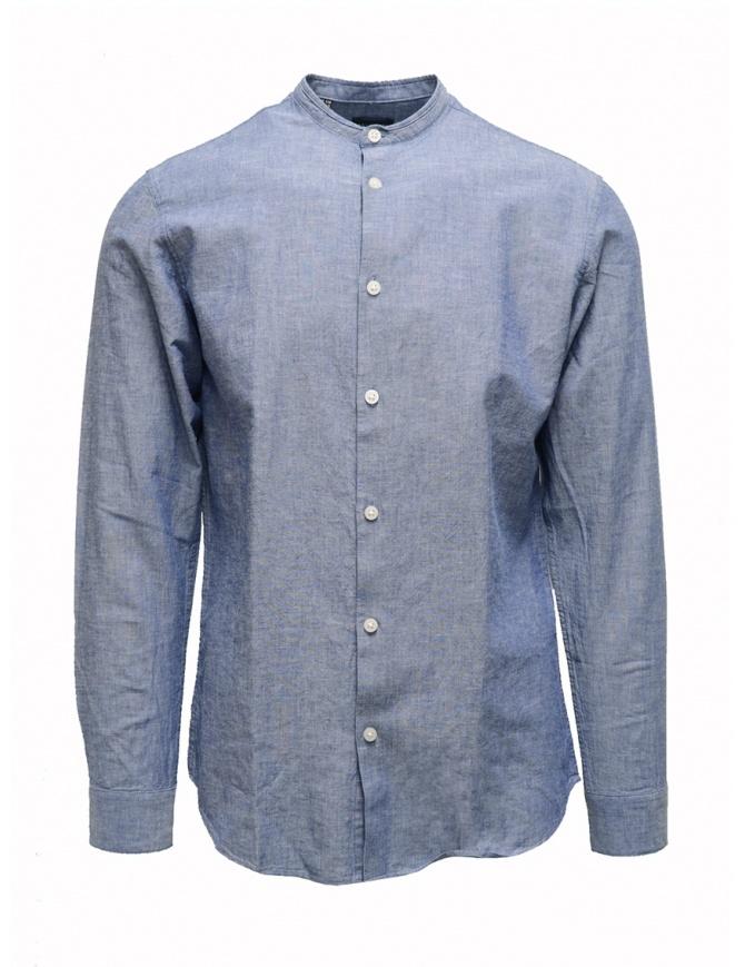 Camicia Selected Homme collo coreana blu chiaro 16067894 MEDIUM BLUE camicie uomo online shopping