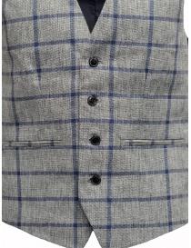 Gilet Selected Homme a quadri grigio e blu prezzo