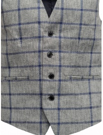 Selected Homme vest with grey and blue squares price