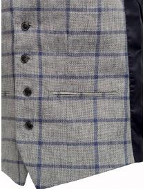 Gilet Selected Homme a quadri grigio e blu gilet uomo acquista online