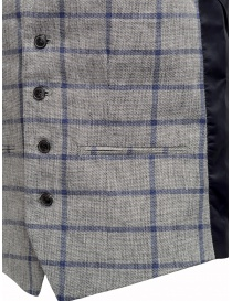 Selected Homme vest with grey and blue squares mens vests buy online
