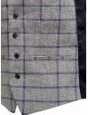 Gilet Selected Homme a quadri grigio e blu 16067387 GREY/BLUE acquista online