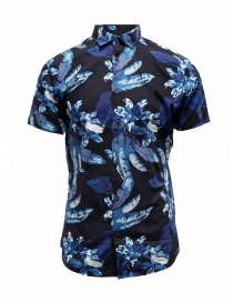 Mens shirts online: Selected Homme dark sapphire blue tropical shirt