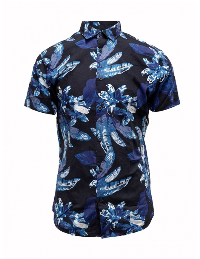 Camicia Selected Homme blu scuro zaffiro tropicale 16067989 DARK SAPPHIRE camicie uomo online shopping