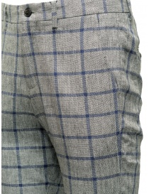 Selected Homme trousers with grey and blue squares price