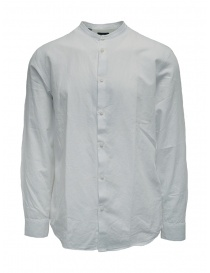 Mens shirts online: Selected Homme white corean collar shirt