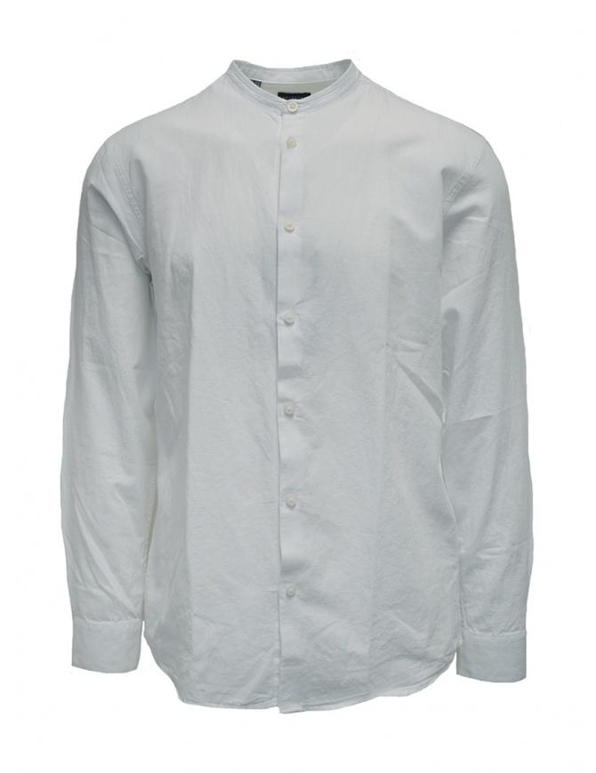 Selected Homme white Korean collar shirt 16067894 WHITE mens shirts online shopping