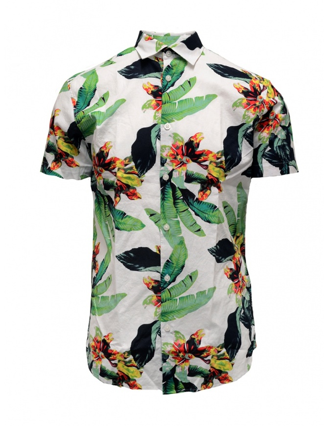 Selected Homme tropical white shirt 16067989 WHITE mens shirts online shopping