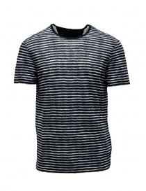T-shirt John Varvatos nera a righe bianche online