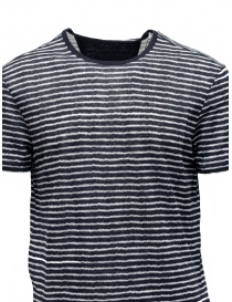 John Varvatos black T-shirt with white stripes