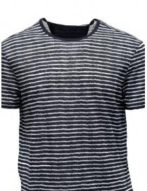 T-shirt John Varvatos nera a righe bianche