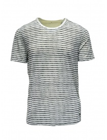 John Varvatos white T-shirt with black stripes online