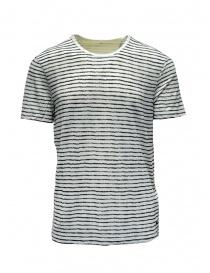 T-shirt John Varvatos bianca a righe nere online