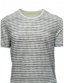 T-shirt John Varvatos bianca a righe nere