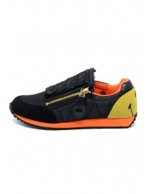 Kapital black and orange sneaker with smiley
