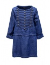 Kapital indigo short dress with golden buttons buy online K1903LS016 IDG