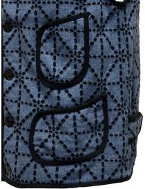Gilet Kapital blu e nero con tasche gilet uomo acquista online