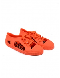 Womens shoes online: Melissa + Vivienne Westwood Anglomania orange sneaker