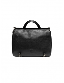 Il Bisonte black leather briefcase online