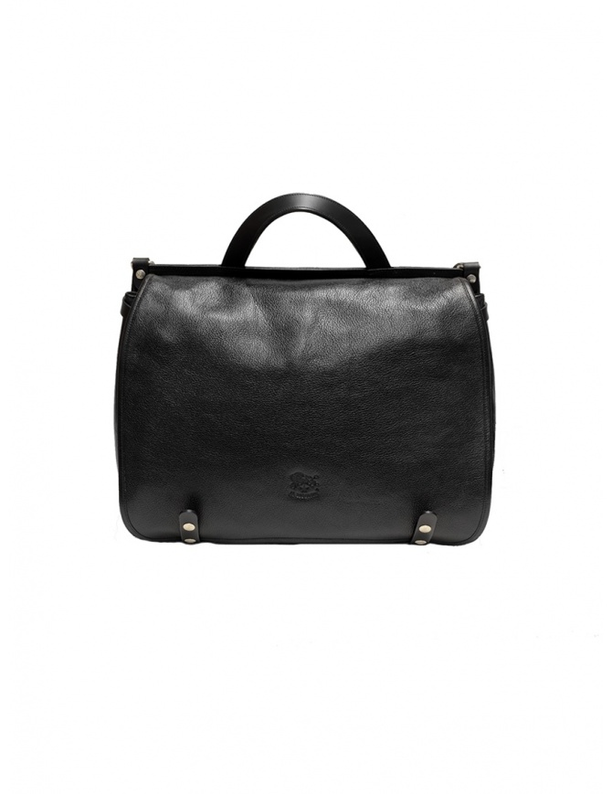 Il Bisonte black leather briefcase D0305.P 135N bags online shopping