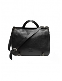 Il Bisonte black leather briefcase buy online