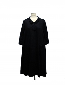 Casey Vidalenc black linen and cotton dress online