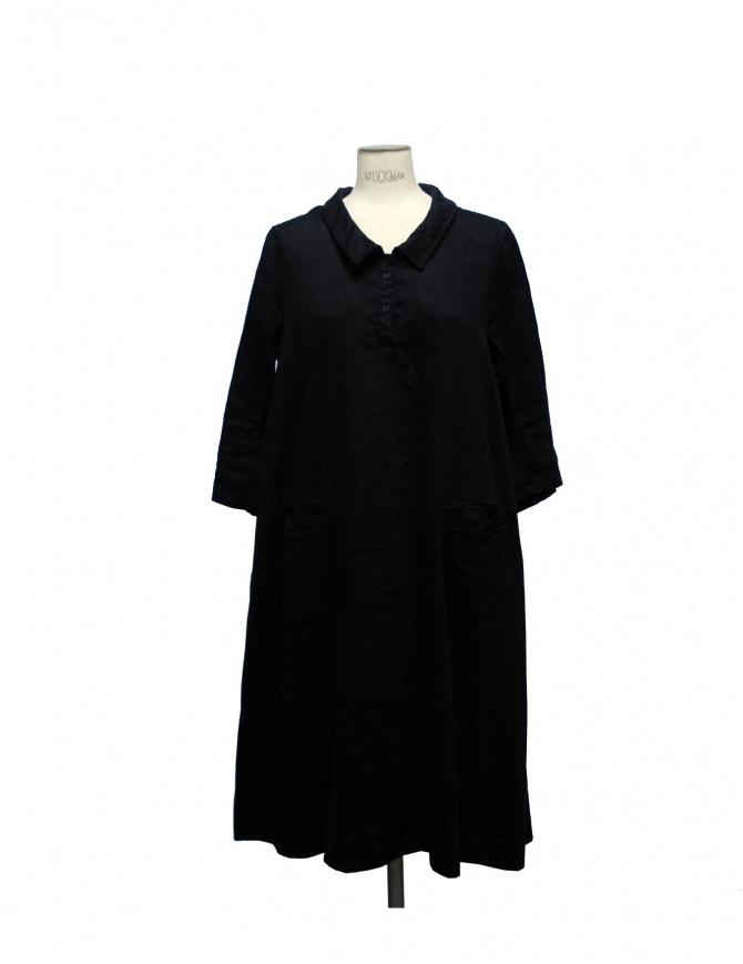 Casey Vidalenc black linen and cotton dress FR 209 BLK womens dresses online shopping