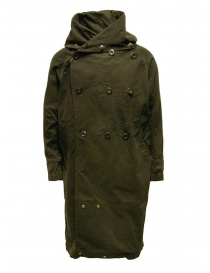 Kapital khaki coat with multiple closures online