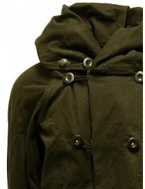 Cappotto Kapital khaki con chiusure multiple cappotti uomo acquista online