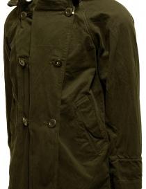 Cappotto Kapital khaki con chiusure multiple cappotti uomo prezzo