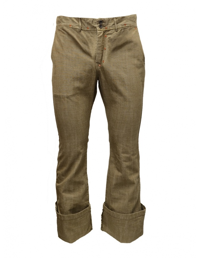 Kapital beige trousers with big pocket EK 02 KAPITAL mens trousers online shopping