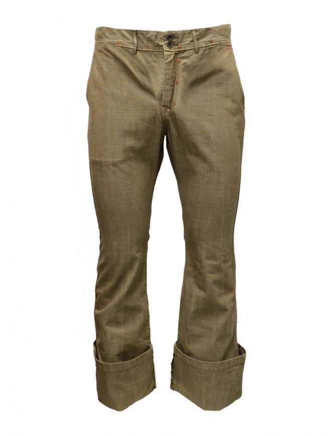 Pantaloni Kapital beige con tascone EK 02 KAPITAL pantaloni uomo online shopping